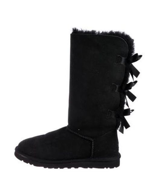 cb92b379650 Ugg - Black Bailey Suede Mid-calf Boots - Lyst ...
