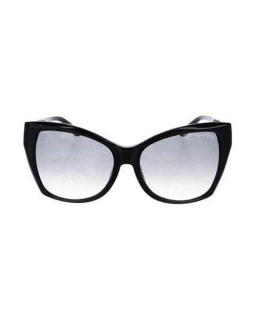 2e424cff44c6 Tom Ford - Black Carli Cat-eye Sunglasses - Lyst ...