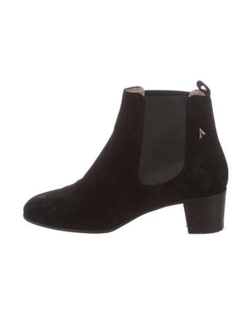 49601d01ae49 Acne - Metallic Embellished Suede Boots Black - Lyst ...