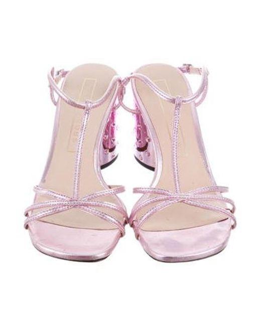 dd9007087a3 ... Marc Jacobs - Metallic Embellished Block Heel Sandals - Lyst ...