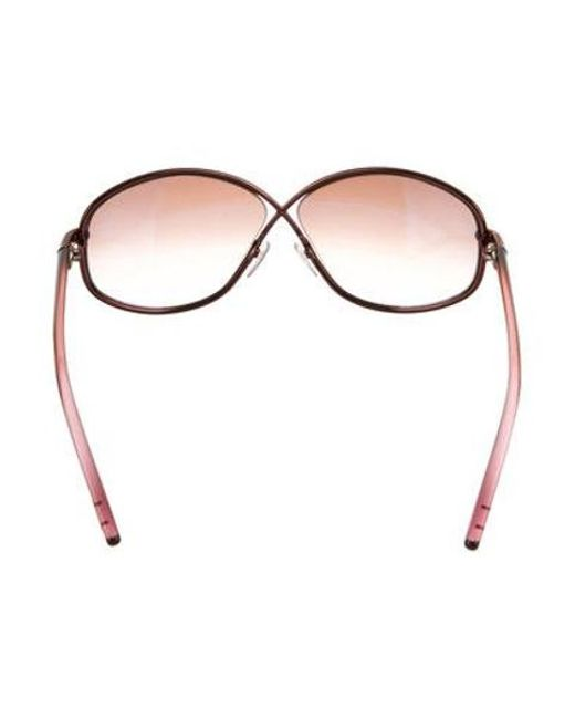 46af44d732a7 ... Tom Ford - Brown Brigette Oversize Sunglasses - Lyst ...