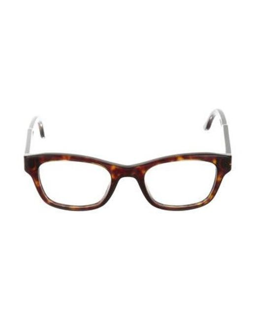 070a6c36ee Stella McCartney - Brown Square Tortoiseshell Eyeglasses - Lyst ...