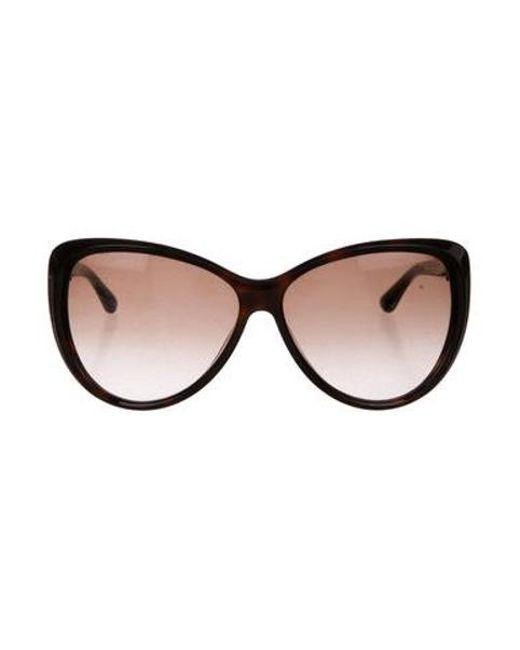 f323863781a Tom Ford - Metallic Malin Cat-eye Sunglasses Brown - Lyst ...