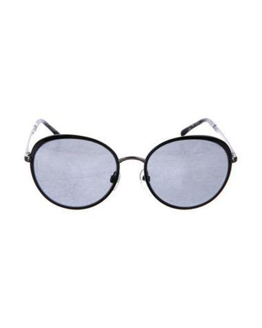 8e40928e3b8f6 Spring Summer 2019 Source · Lyst Chanel Round Spring Sunglasses in Black