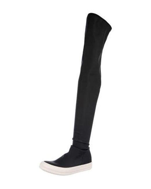 ed3615911c85 ... Rick Owens Drkshdw - Black Vegan Knee-length Boots W/ Tags - Lyst ...