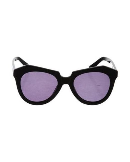 96fe71ca42 Karen Walker - Black Number One Oversize Sunglasses - Lyst ...