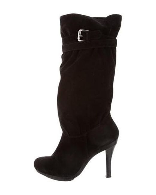 0962198ed106b MICHAEL Michael Kors - Metallic Michael Kors Suede Knee-high Boots Black -  Lyst ...