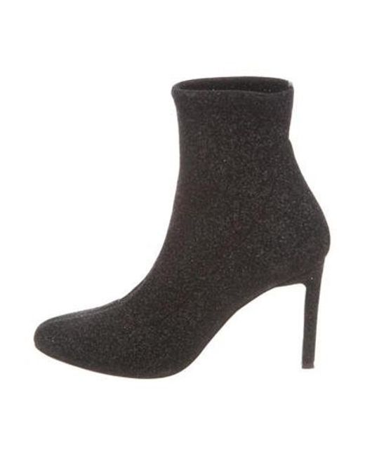 1334a2092c51d Giuseppe Zanotti - Metallic Glitter Sock Booties - Lyst ...