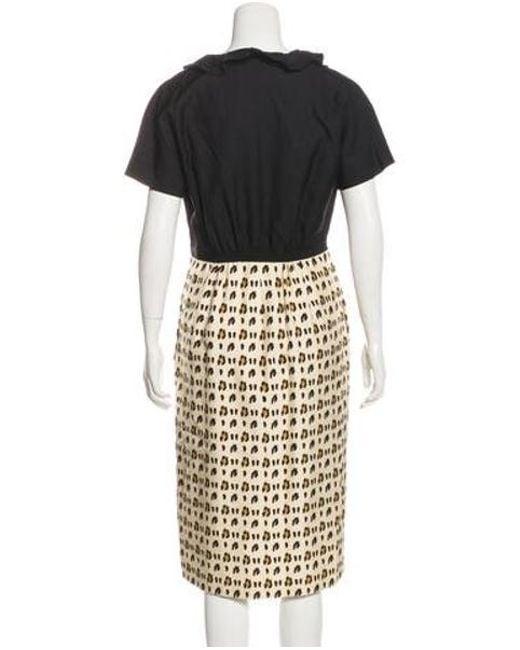 98270916b4 ... Giambattista Valli - Black Silk Animal Print Dress - Lyst