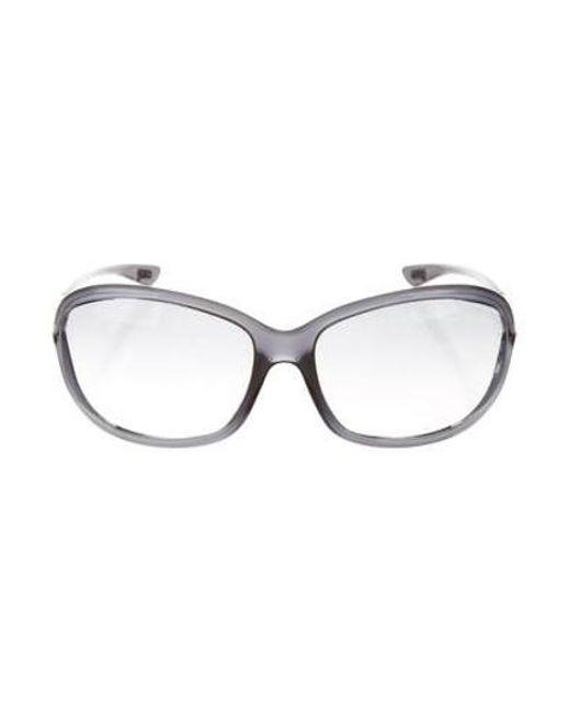 dff9064b97c Tom Ford - Metallic Acetate Tinted Sunglasses Grey - Lyst ...