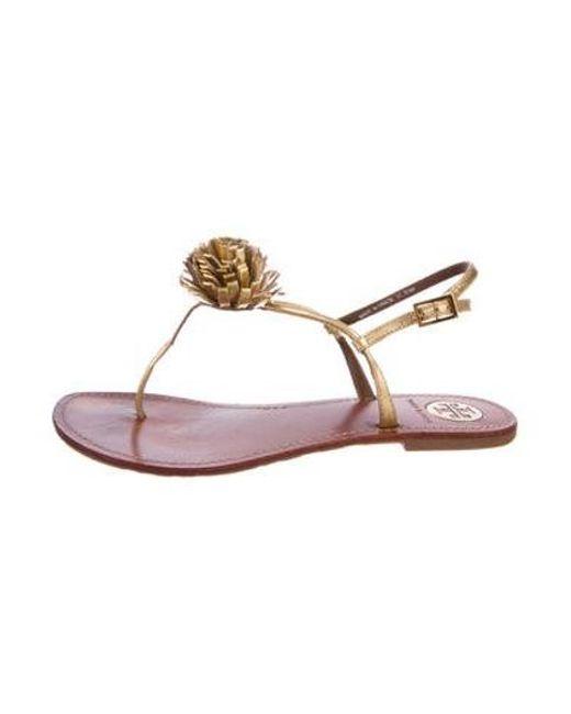 82c25980bcd1 Tory Burch - Metallic Cherilyn Thong Sandals Gold - Lyst ...