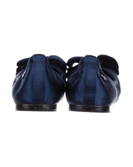 da6fae7c3b4 ... Tory Burch - Blue 2017 Viola Bow Flats Navy - Lyst ...