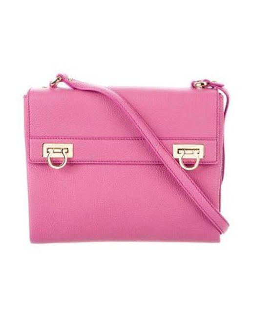 d9633843faf4 Ferragamo - Metallic Mya Crossbody Bag Pink - Lyst ...