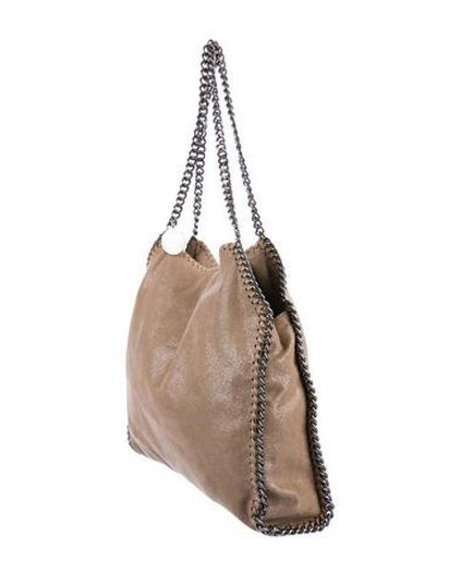 d9aae1bea9a ... Stella McCartney - Natural Metallic Shaggy Deer Falabella Tote Beige -  Lyst ...