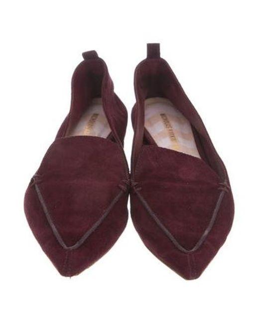 6ef63c2589f ... Nicholas Kirkwood - Metallic Beya Suede Loafers Purple - Lyst ...