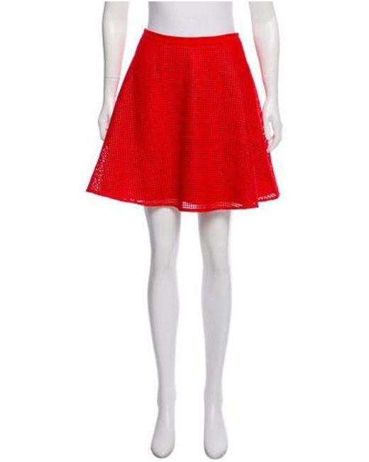 83fa6450bd Sachin & Babi - Red Mesh Overlay Mini Skirt Orange - Lyst ...