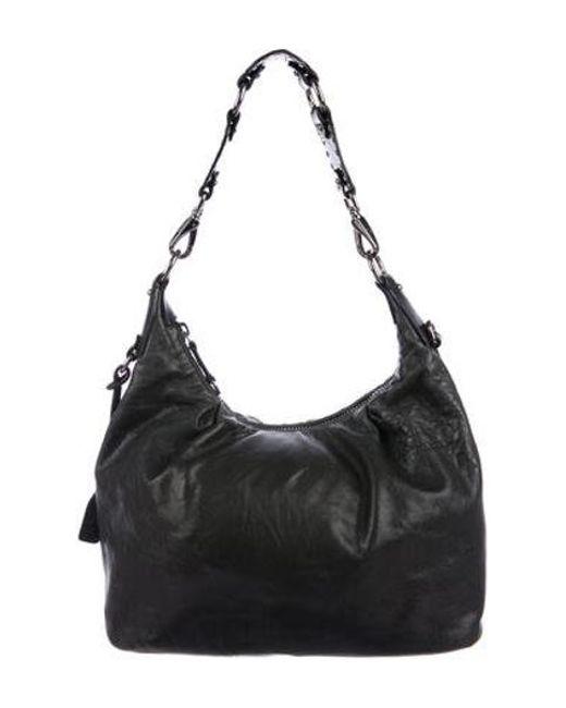 55c45a4b0adb Miu Miu - Metallic Miu Leather Shoulder Bag Black - Lyst ...