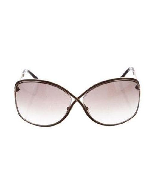 830ddb7733ca Tom Ford - Metallic Rickie Metal Sunglasses Brown - Lyst ...