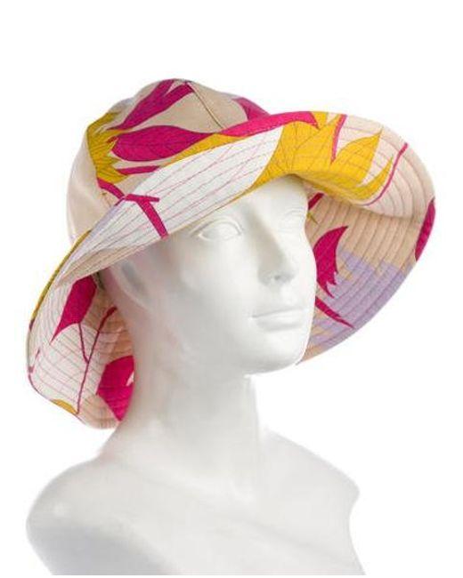 dd1ecfc7c6b ... Emilio Pucci - Printed Bucket Hat W  Tags Multicolor - Lyst