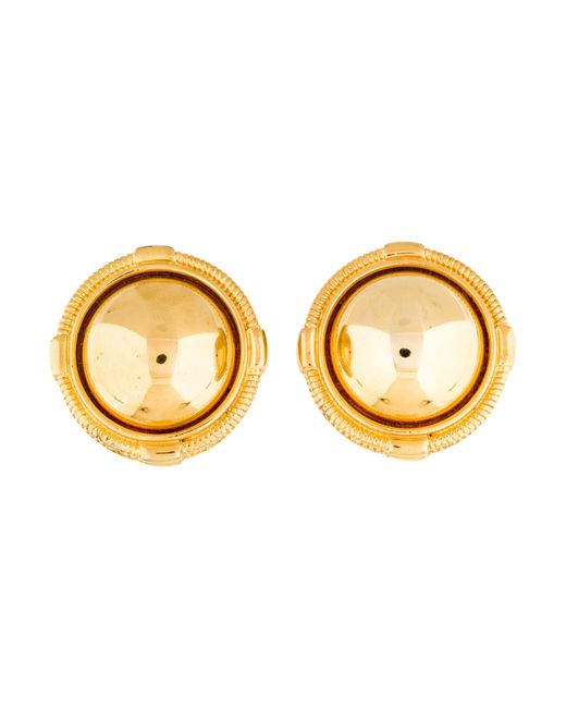 Givenchy - Metallic Dome Clip-on Earrings Gold - Lyst