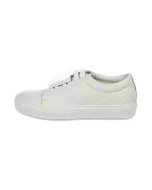 55ccca38de7 Acne - White Leather Low-top Sneakers W  Tags - Lyst ...