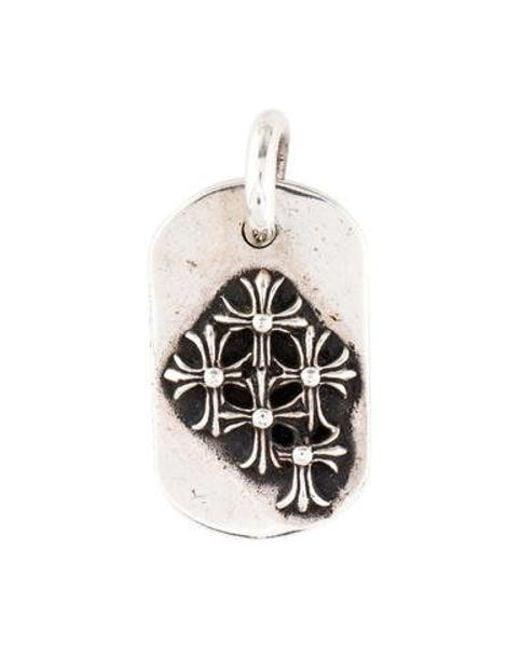 Lyst chrome hearts cross dog tag pendant silver in metallic chrome hearts metallic cross dog tag pendant silver lyst aloadofball Gallery