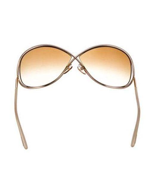 127510ae369 ... Tom Ford - Metallic Miranda Gradient Sunglasses Gold - Lyst ...