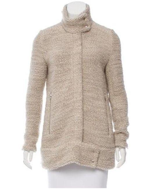IRO - Natural Oversize Zip-up Coat Neutrals - Lyst