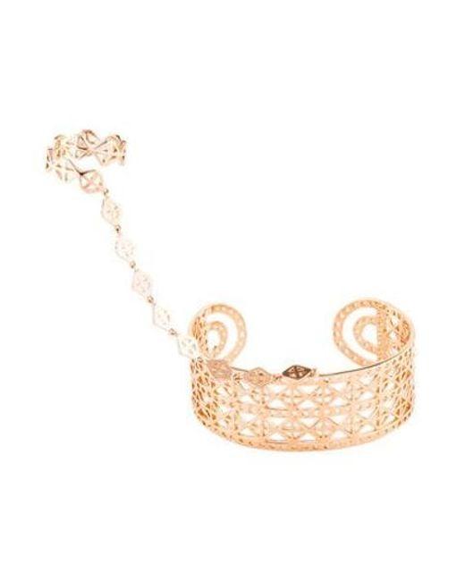 Arme De L'Amour - Metallic Rhomboid Ring & Bracelet Rose - Lyst