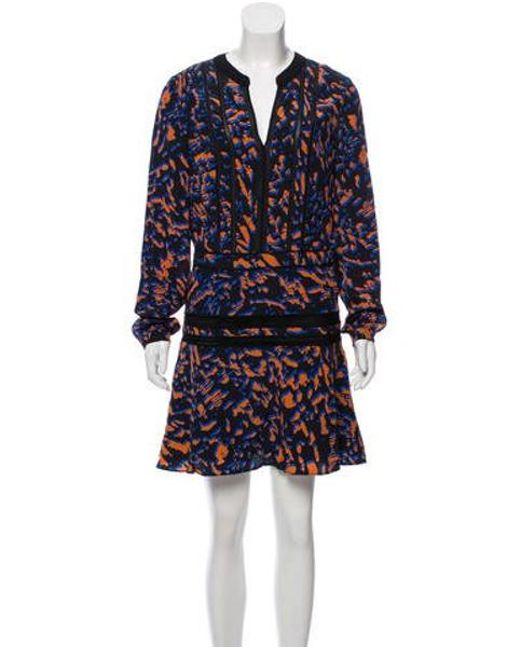 48ddbb73c4f Veronica Beard - Black Silk Printed Mini Dress - Lyst ...