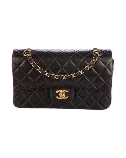 cc16ceb64b69 Chanel - Metallic Classic Small Double Flap Bag Black - Lyst ...