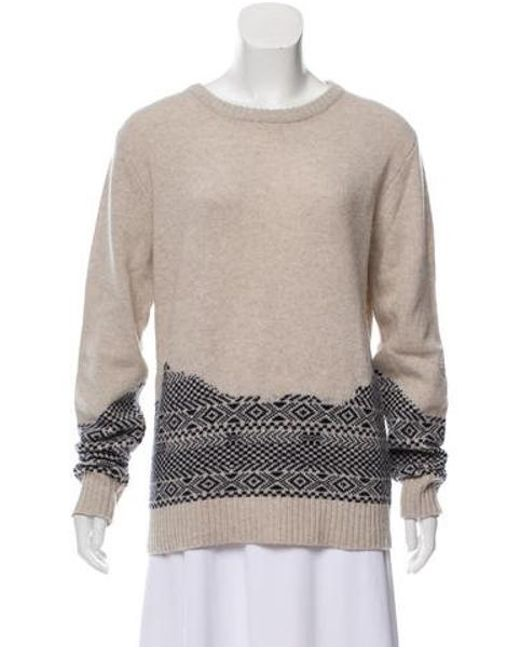 Band of Outsiders - Natural Knit Wool Sweater Beige - Lyst