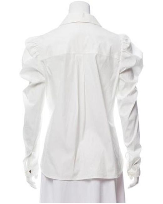 a16484196531 ... Louis Vuitton - White Long Sleeve Button-up Top - Lyst