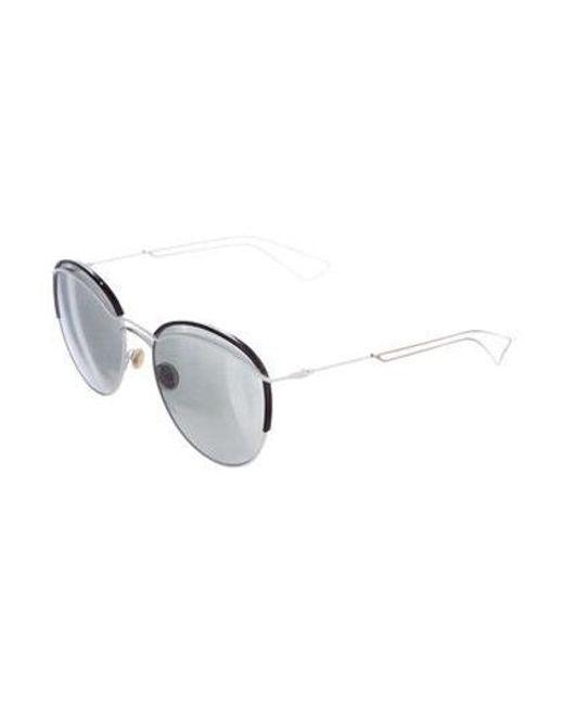 23eaf635e36 ... Dior - Metallic Dioround Reflective Sunglasses White - Lyst ...