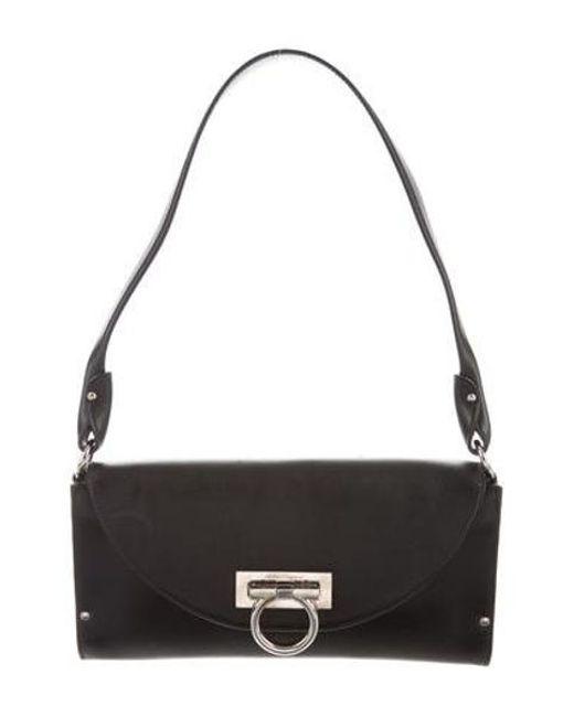 e149c4f51a3 Ferragamo - Metallic Gancino Flap Shoulder Bag Black - Lyst ...