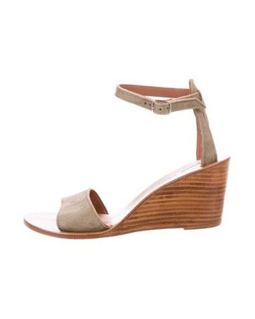805eb29234d K. Jacques - Green Suede Wedge Sandals - Lyst ...