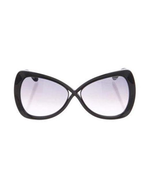 4bae9a87a6c9 Tom Ford - Metallic Jade Oversize Sunglasses Black - Lyst ...
