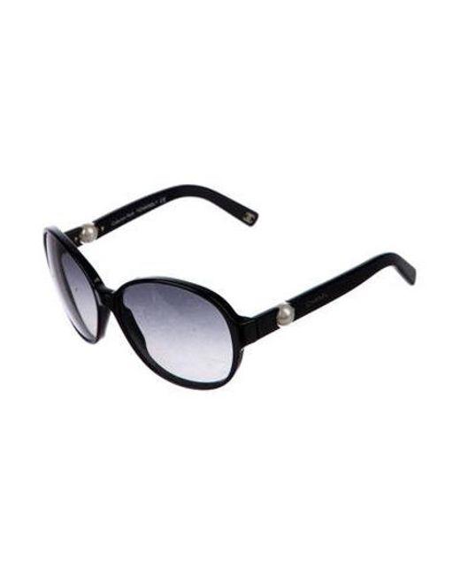 35449f69489 ... Chanel - Black Perle Gradient Sunglasses - Lyst ...