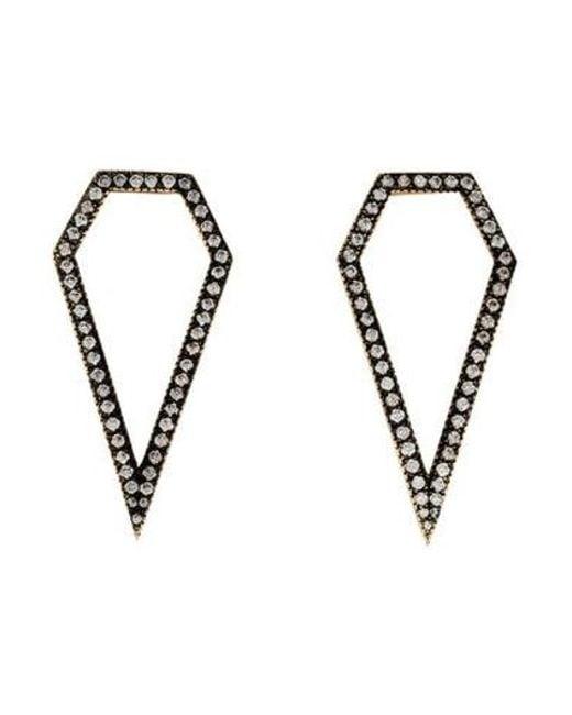 Jennifer Fisher - Metallic 14k Hollow Diamond Drop Earrings Yellow - Lyst