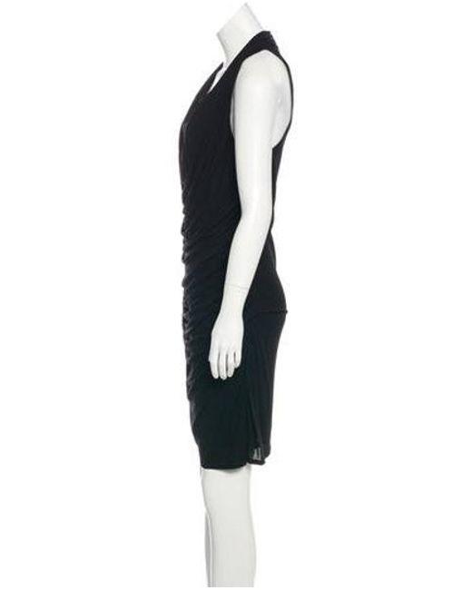 9c4c50711dea9 ... Helmut Lang - Black Scoop Neck Sleeveless Dress - Lyst ...