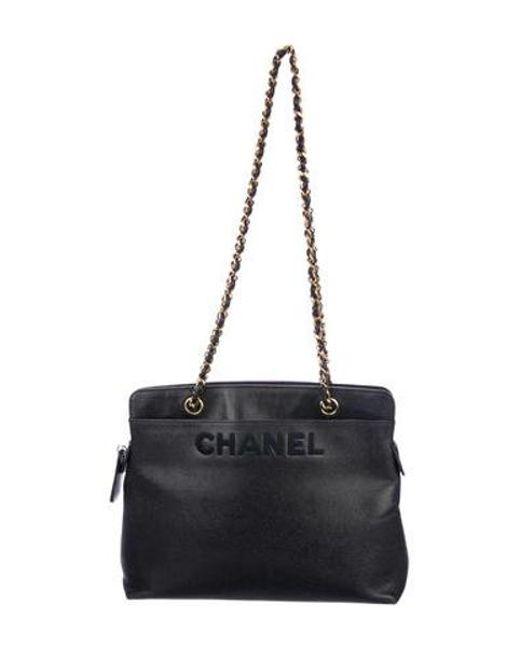 0479e1a7b599 Chanel - Metallic Vintage Caviar Tote Navy - Lyst ...