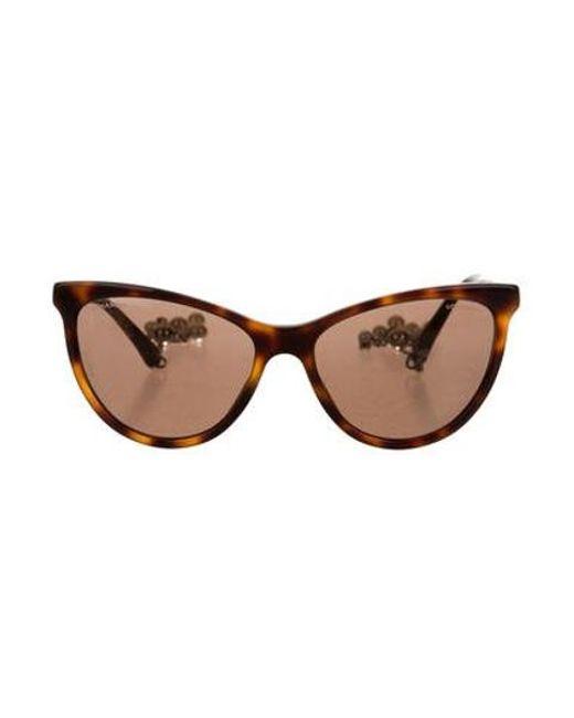 7b199ba040 Chanel - Metallic Cat-eye Pearl Sunglasses W  Tags Brown - Lyst ...