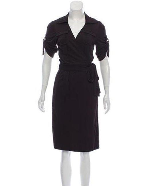 d08af0c626a Diane von Furstenberg - Brown Short Sleeve Midi Dress - Lyst ...