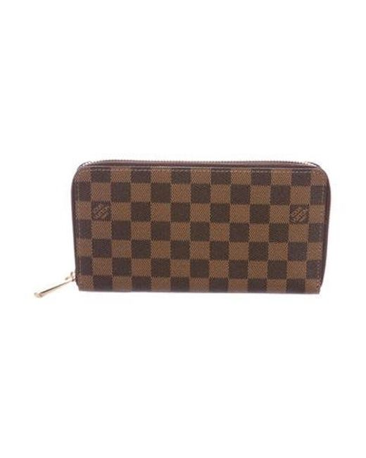 51cf58788337 Louis Vuitton - Natural Damier Ebene Zippy Organizer Wallet Tan - Lyst ...