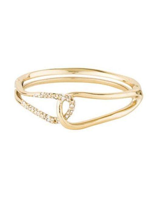 Alexis Bittar - Metallic Miss Havisham Liquid Crystal Interlocked Bracelet Gold - Lyst