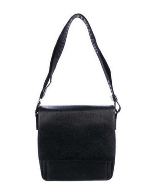 Ferragamo - Metallic Textured Leather Messenger Bag Silver for Men - Lyst  ... 224c8b8ac1e1a