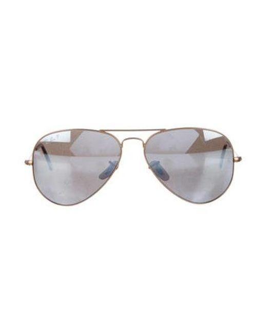 20f06deb3a2 Ray-Ban - Metallic Large Metal Aviator Sunglasses Gold - Lyst ...