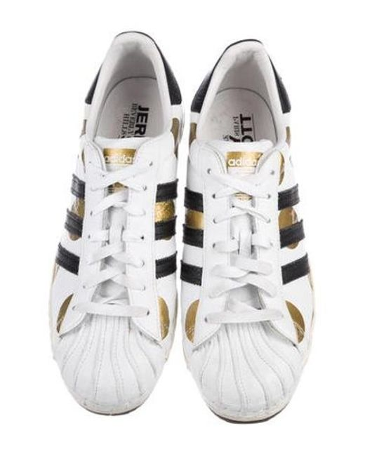 f34bfd5982bf ... Jeremy Scott for adidas - Metallic Superstar 80s Ripple Sneakers White  for Men - Lyst ...