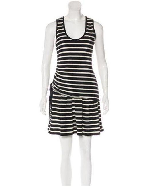 bf0f87c7ed 10 Crosby Derek Lam - Black Striped Sleeveless Mini Dress W/ Tags - Lyst ...