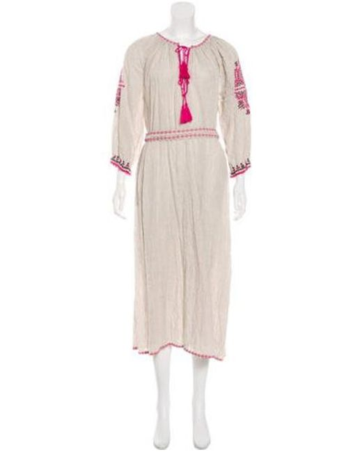 da2925936b3 Ulla Johnson - Gray Linen-blend Maxi Dress Grey - Lyst ...